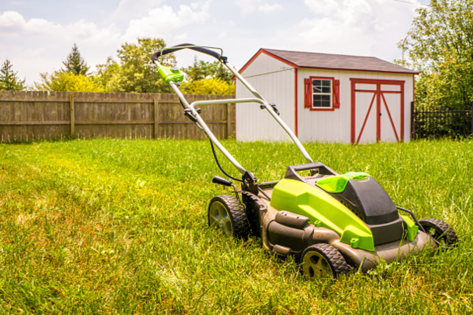 how to mow a hill with a self-propelled mower