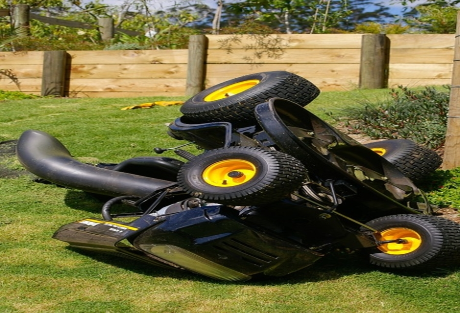 How to mow a hill with a riding mower