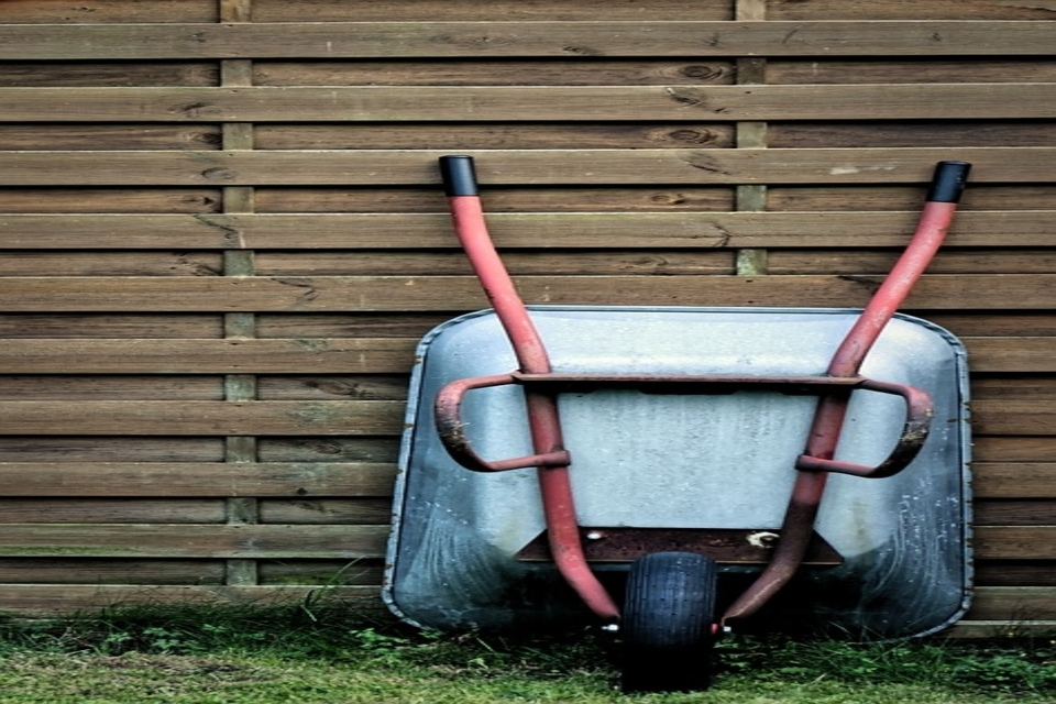 Learn how to hang a wheelbarrow with these simple steps