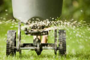How to Use a Broadcast Spreader to Fertilize a Yard